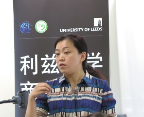 Zhu Zhu presenting Leeds